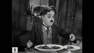 Charlie Chaplin eats his shoe for Thanksgiving - The Gold Rush (1942 version)