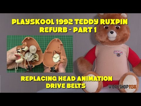 Playskool 1992 Teddy Ruxpin Refurb 1 - Head Animation Drive Belts