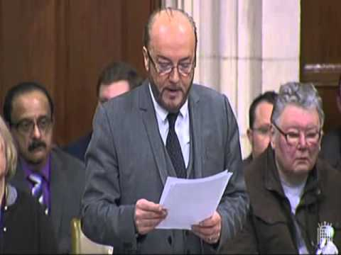 George Galloway on relations with the Arab World in Westminster Hall