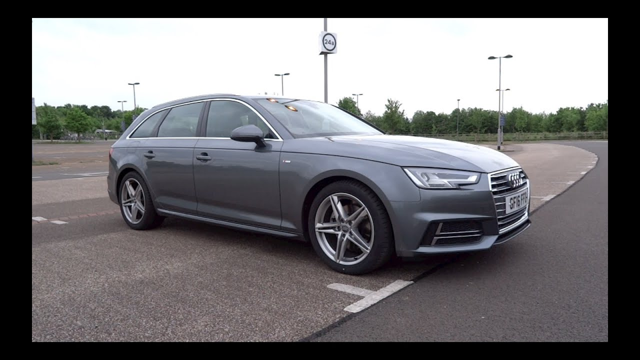 2016 audi a4 avant 2 0 tdi 150 s line start up and full. Black Bedroom Furniture Sets. Home Design Ideas