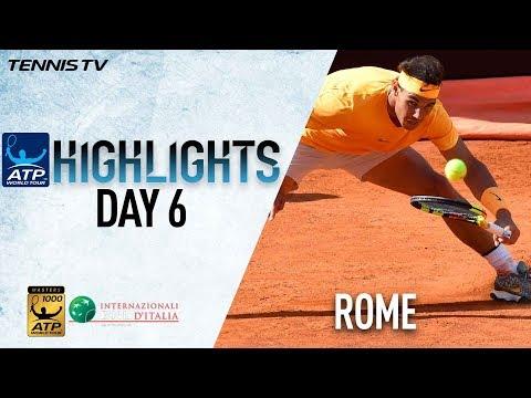 Highlights: Ruthless Rafa Sweeps Into QFs, Novak Impressive In Rome 2018