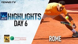 Highlights: Ruthless Rafa Sweeps Into QFs, Novak Impressive In Rome 2018
