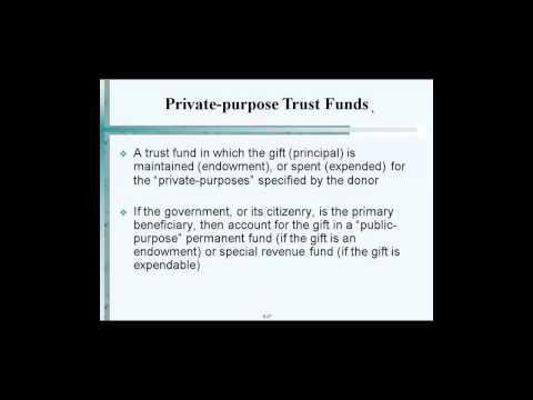 Private purpose Trust Funds