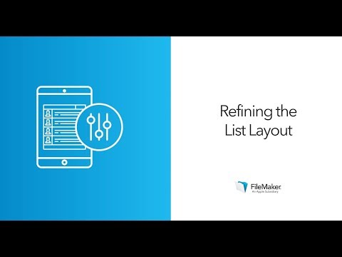 Editing your Layouts in FileMaker | List Layouts