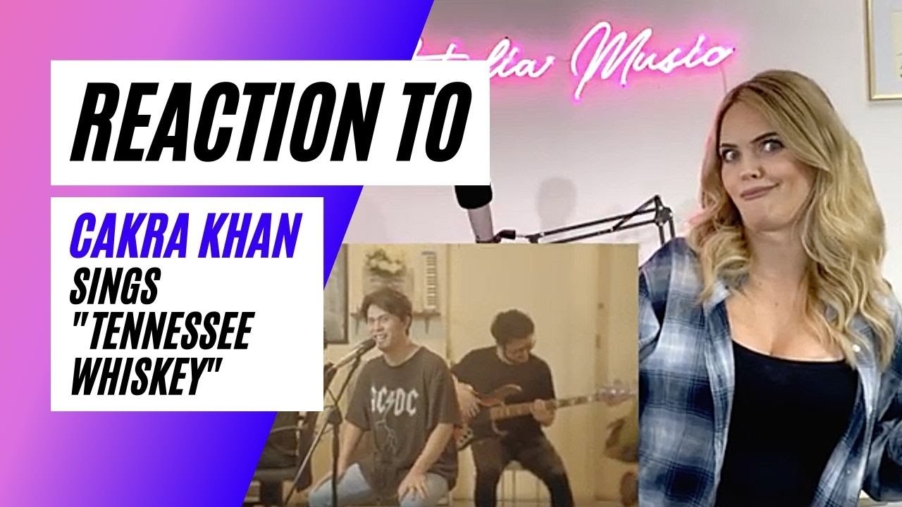 Voice Teacher Reacts to Cakra Khan - Tennessee Whiskey (Chris Stapleton Cover) Live Session