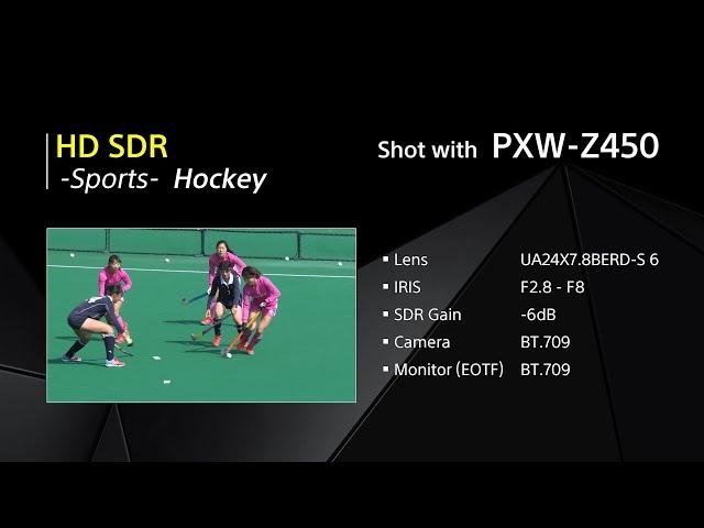 PXW-Z450 HD SDR Video