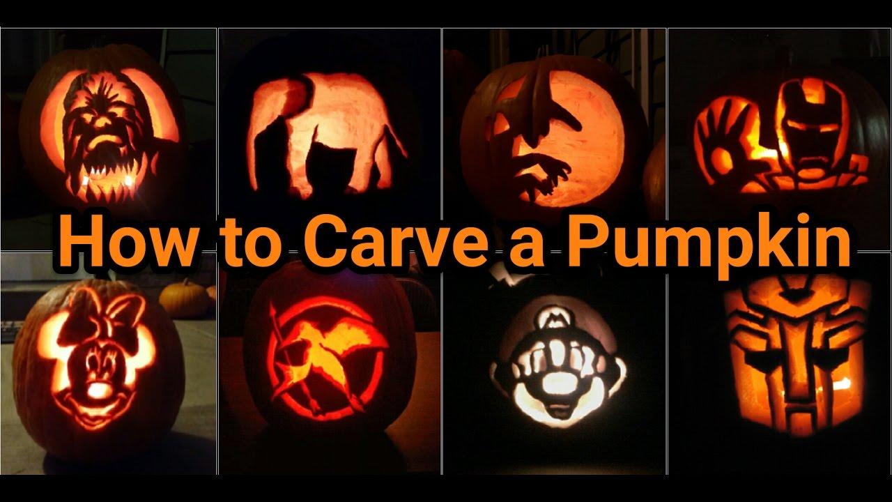 How To Carve A Pumpkin Like A Pro Youtube