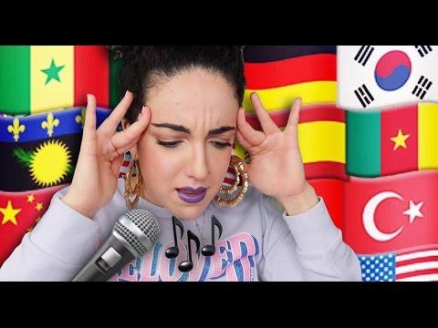 Je chante en 14 langues 😱🌎 ⎮ I'm singing in 14 languages