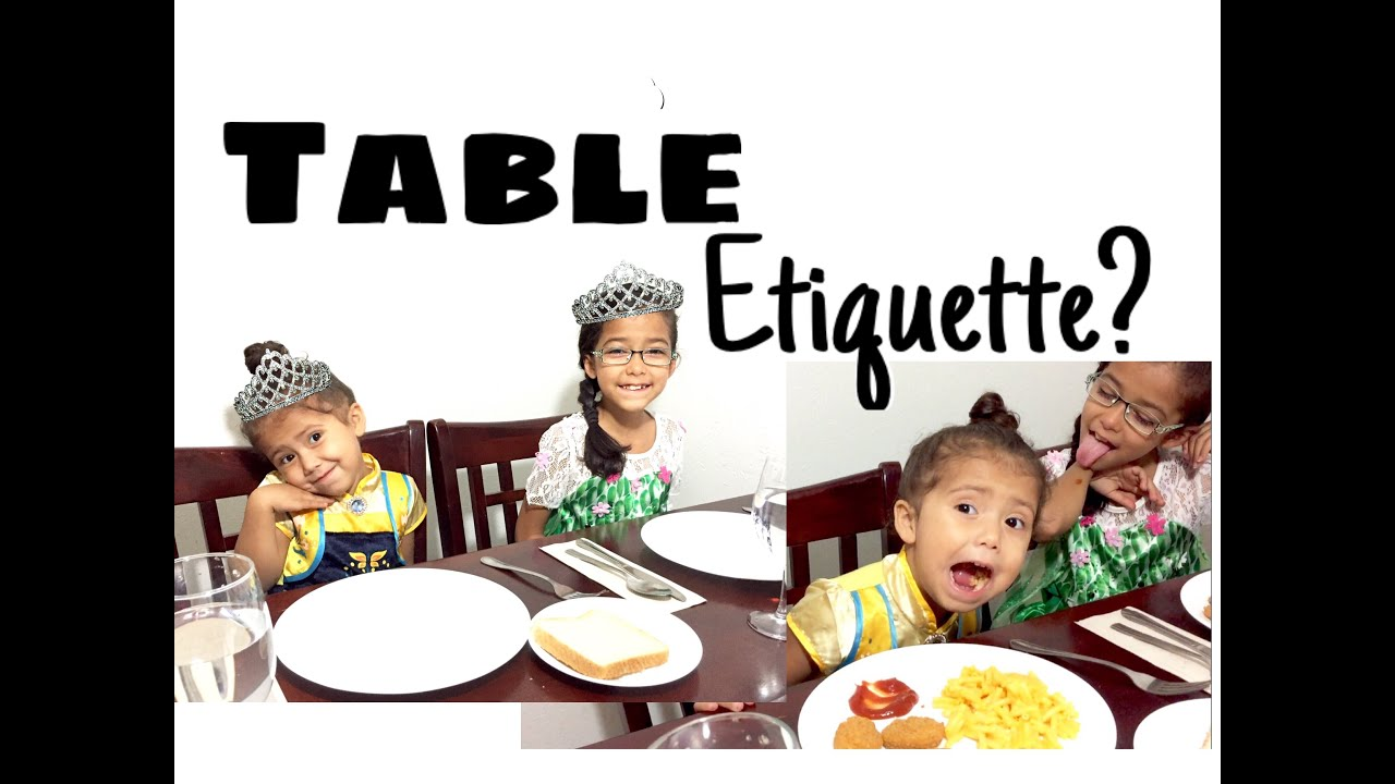 Table Etiquette 101 For Kids My Moms Twin