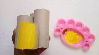 DIY  Easy Paper Pen Holder Making With Tissue Roll Idea By Aloha Crafts