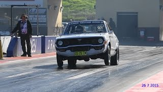 JAY SADEK 13B TURBO RX4 PAC PERFORMANCE 9.61 @ 138 MPH SYDNEY DRAGWAY 26.7.2015