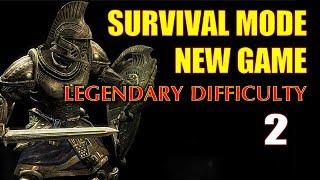 Skyrim SURVIVAL MODE Walkthrough Legendary (New Game) Part 2 - Big Business in Riverwood