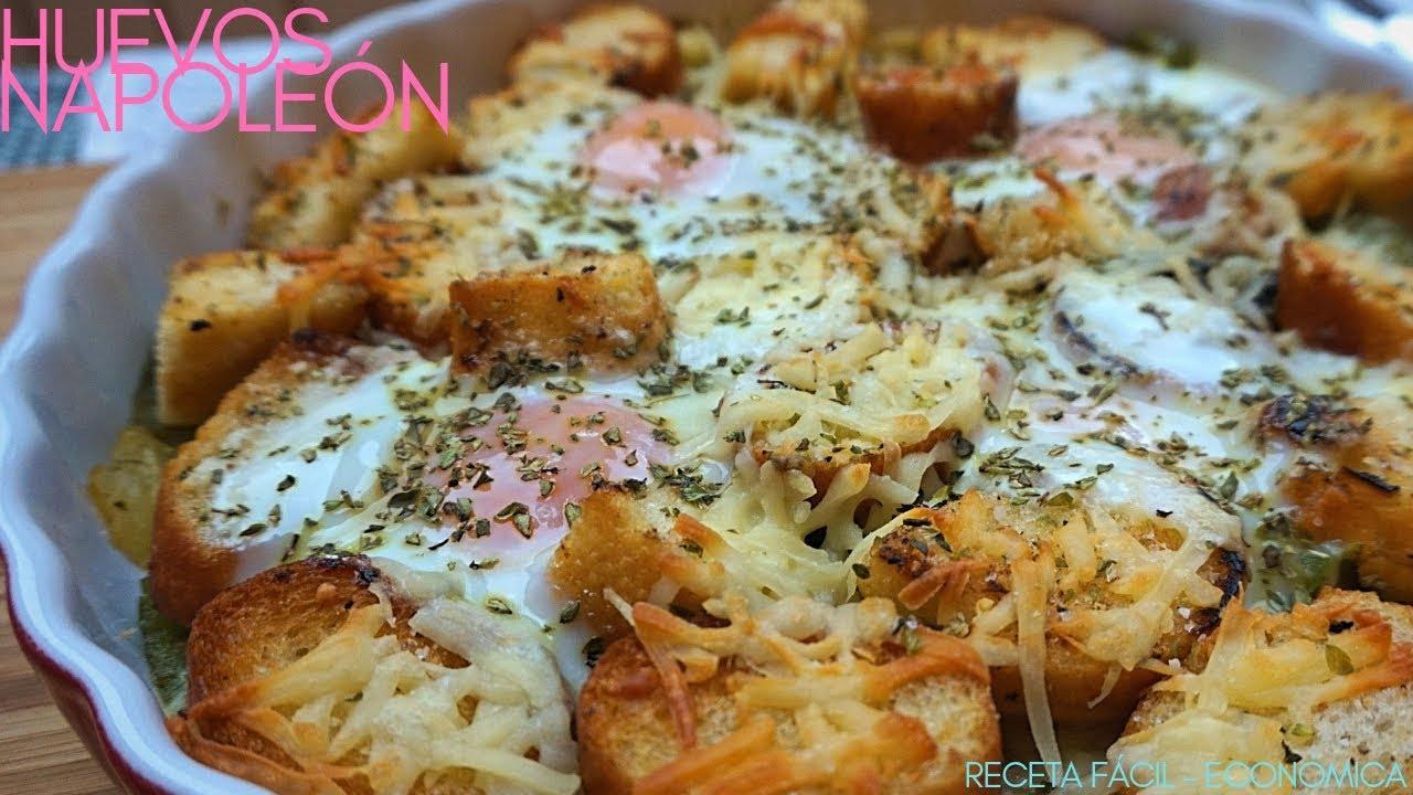 Huevos Napoleón Huevos Al Horno Receta Fácil Y Rápida