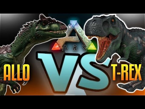 Ark Dino Battles -  ALLO VS REX  (Ark Survival Evolved Gameplay Allosaurus VS T-Rex)