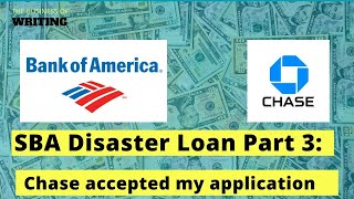 How I submitted my PPP application with Chase Bank for the SBA disaster loan.