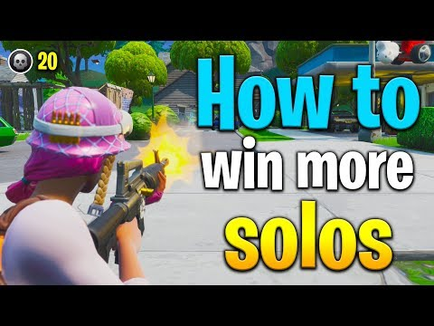 HOW TO WIN MORE SOLO GAMES IN FORTNITE!