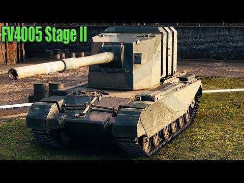 FV4005 Stage II  10.7К dmg за 6 минут, 6 kills, карта Энск.  WoT 1.7.1. 2К VIDEO.