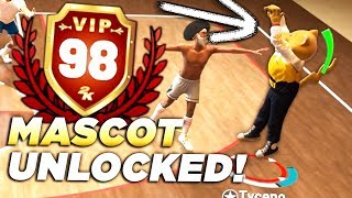 I GOT 98 OVERALL WITH A PURE SHOT CREATOR! MASCOT GAMEPLAY REWARD in NBA2K19!