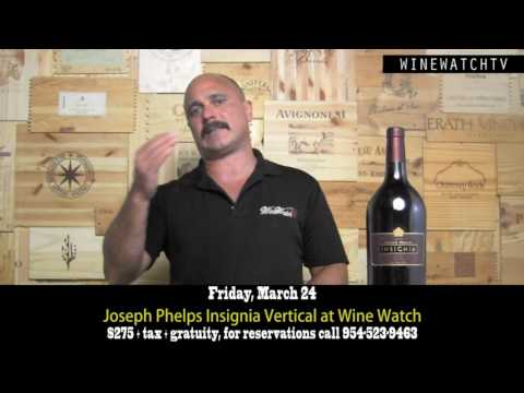 Joseph Phelps Insignia Vertical Tasting at Wine Watch - click image for video