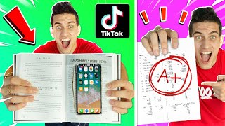 WE TESTED 10 VIRAL TIKTOK LIFE HACKS for SCHOOL! **WE GOT AN A+**