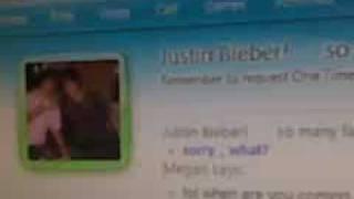 JUSTIN BIEBER SINGIN TO ME ON MSN (kk)
