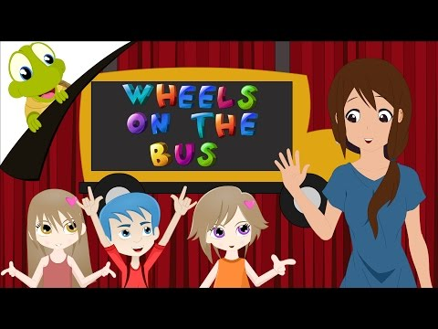 The Wheels on the Bus go round and round Song with lyrics