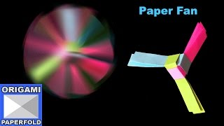 How to Make A Rotating Paper Fan - Origami For Kids - F2BOOK Video 53