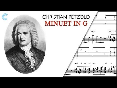Clarinet  - Minuet in G Major - Christian Petzold - Sheet Music, Chords, & Vocals