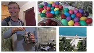 Влог.Сумасшедший день.Собрали компьютер.Красим яйца.05.04.18.Абхазия.Сухум.