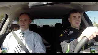 NASCAR Driver Takes ADOT MVD Driving Exam