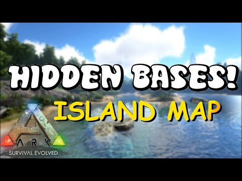 HIDDEN BASES | Island Map - Top 5 Solo PvP Base Locations | ARK: Survival Evolved Base Locations