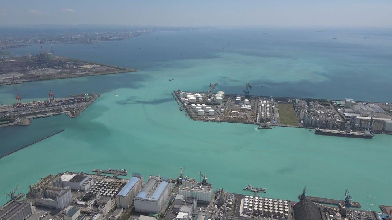 東京湾沿岸で青潮 千葉、帯状に1...