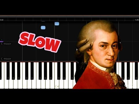 Mozart - Lullaby (K350) - Easy Piano Music - SLOW
