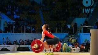 Women 75kg A Snatch 2014 World Weightlifting Championships