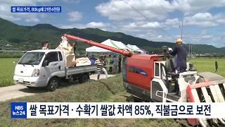새로운 쌀 목표가격, 80kg에 21만4천원 확정