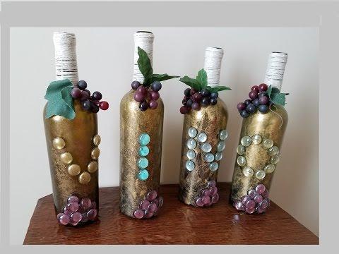 Diy botellas decoradas decorated wine bottles youtube - Botellas de plastico decoradas ...