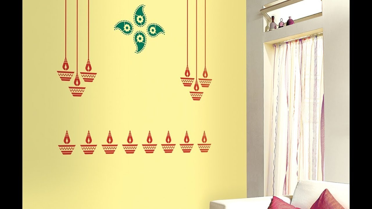 Asian Paints Diya Stencil by ColourDrive Team At Bangalore - YouTube