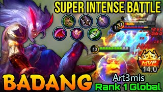Super Intense Battle Badang Susanoo MVP 14 Points - Top 1 Global Badang by Art3mis - MLBB