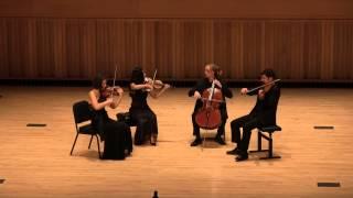 Chiara Quartet Plays Finale of Bartok 5th Quartet by Heart
