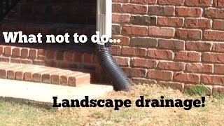 French Drain Tips - Avoid these Mistakes -