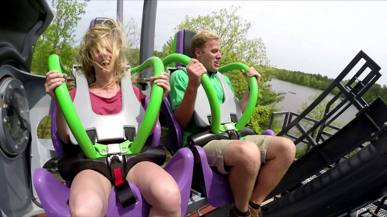Official The Joker 4 D Free Fly Coaster Video With Gopro Front Seat Pov At Six Flags Great Adventure Youtube