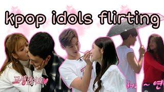 kpop idols flirting