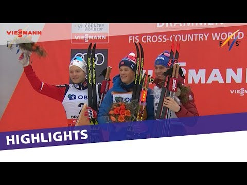 Klaebo leads Norwegian double in Drammen Sprint | Highlights