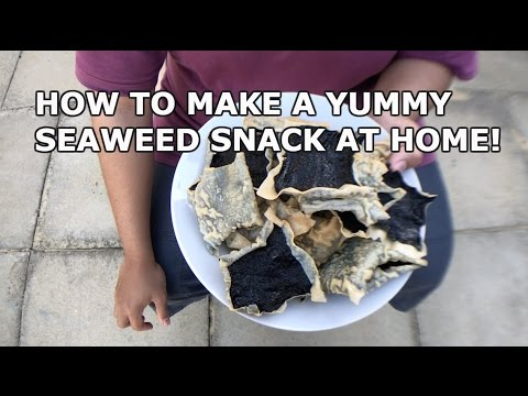 HOW TO MAKE SEAWEED CRISPS