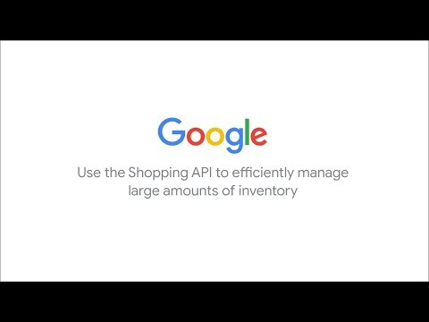 Use the Shopping API Technology to manage inventories