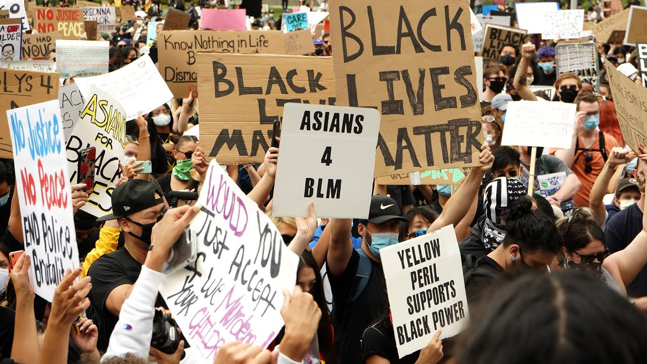 Asian Americans Protest for Black Lives Matter | Downtown Los Angeles
