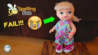 Baby Alive School Spelling Bee Champion Brianna wants to win Video