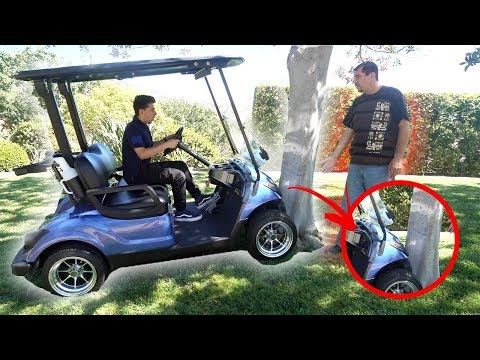 Thumbnail: He crashed my dad's golf cart.. (CAUGHT ON CAMERA)