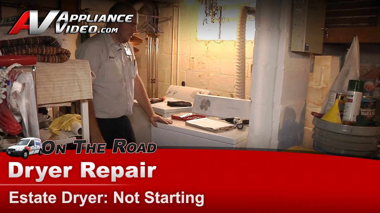 Whirlpool Estate Dryer Repair - Not Starting Drum Not Turning - Thermal Fuse Teds740pq0