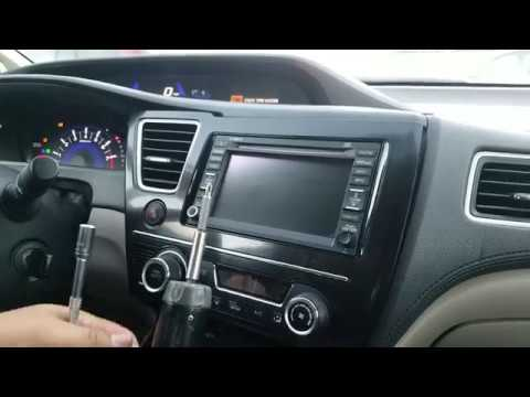 How To Remove Radio / Navigation / Touch Screen From Honda Civic 2013 For Repair.